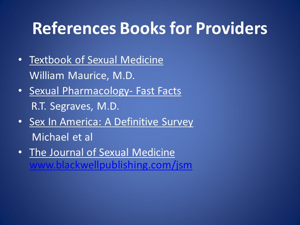 References Books for Providers