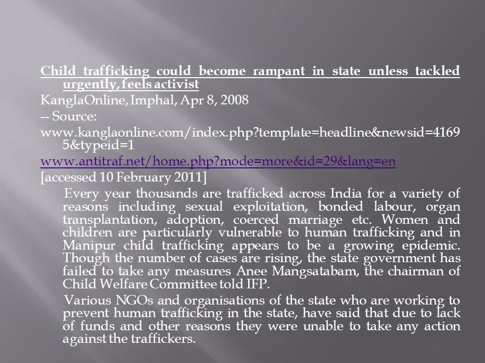 Child trafficking could become rampant in state unless tackled urgently, feels activist