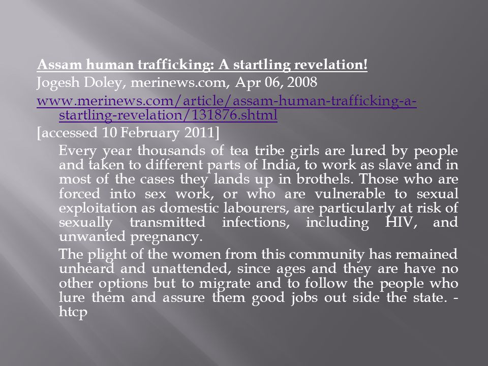 Assam human trafficking: A startling revelation!