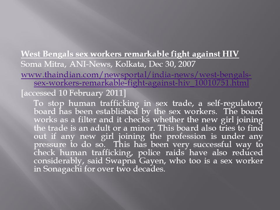 West Bengals sex workers remarkable fight against HIV