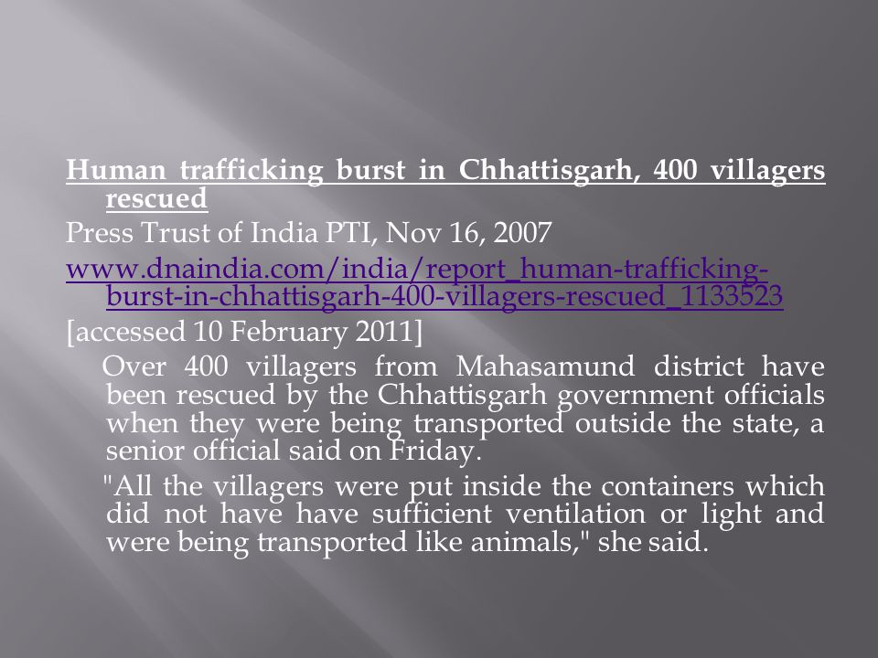 Human trafficking burst in Chhattisgarh, 400 villagers rescued