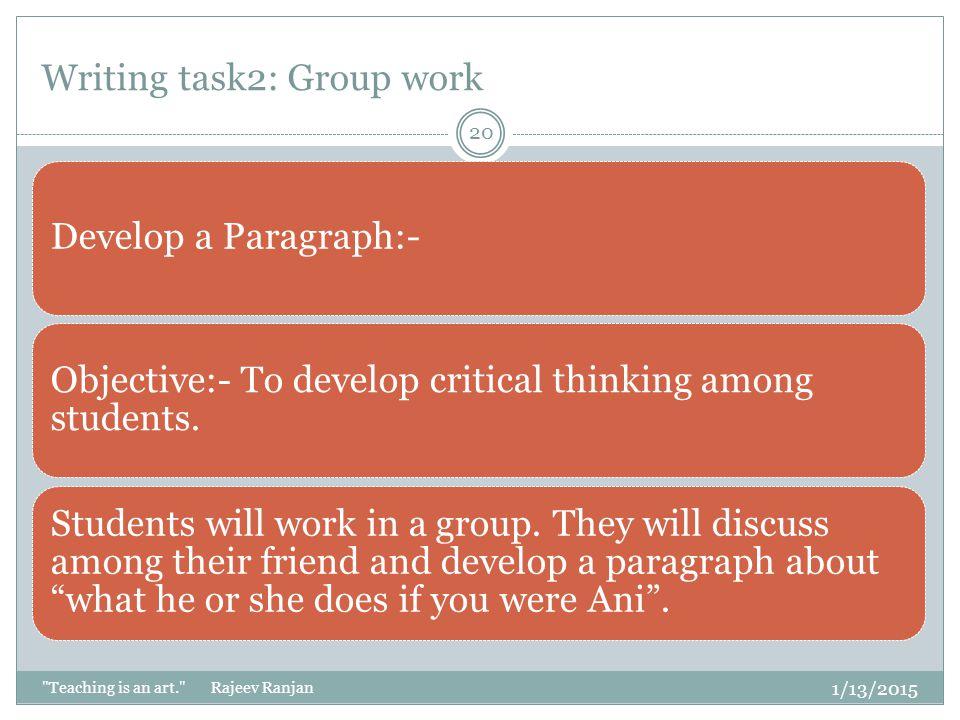 Writing task2: Group work