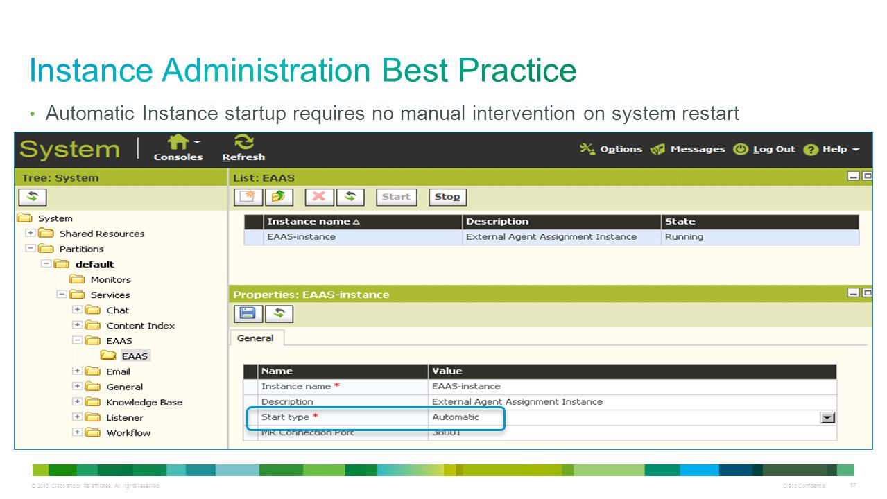 Instance Administration Best Practice