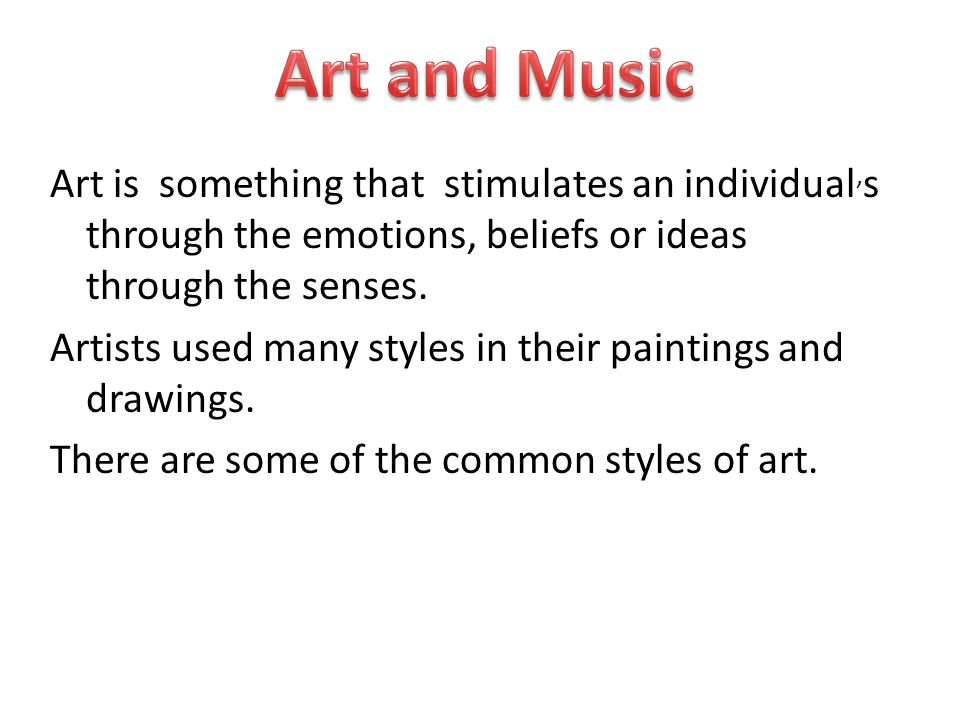 Art and Music