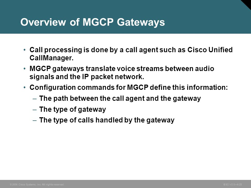 Overview of MGCP Gateways