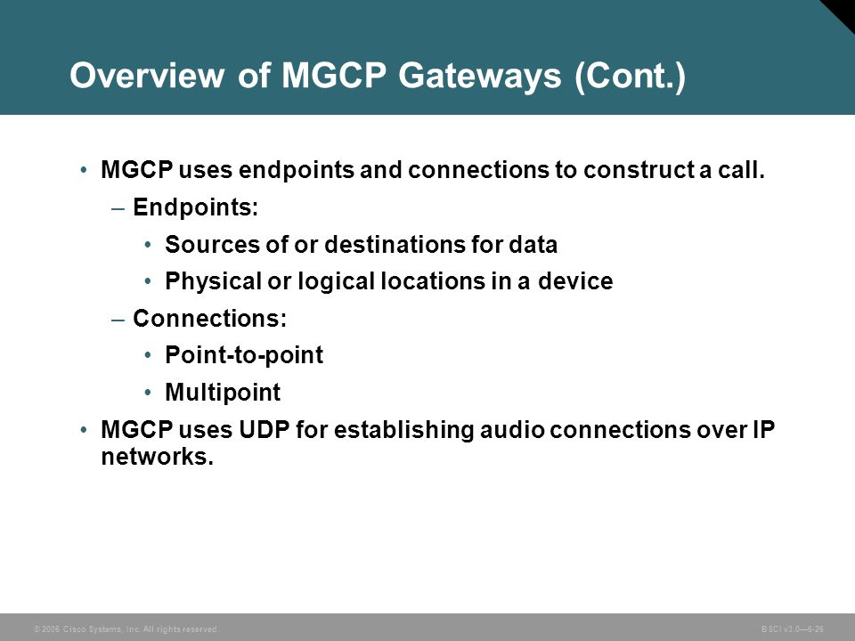 Overview of MGCP Gateways (Cont.)