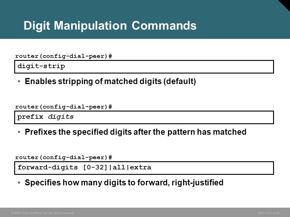 Digit Manipulation Commands