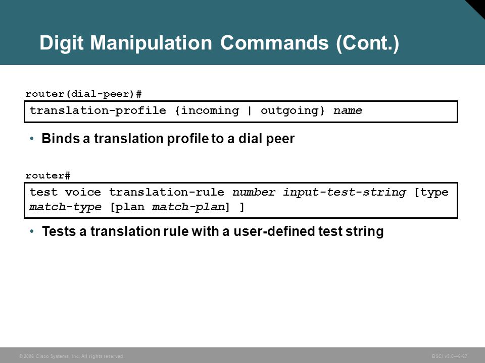 Digit Manipulation Commands (Cont.)