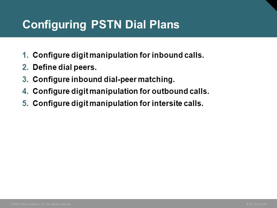 Configuring PSTN Dial Plans