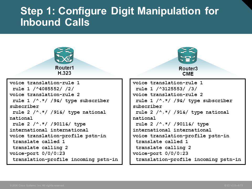 Step 1: Configure Digit Manipulation for Inbound Calls