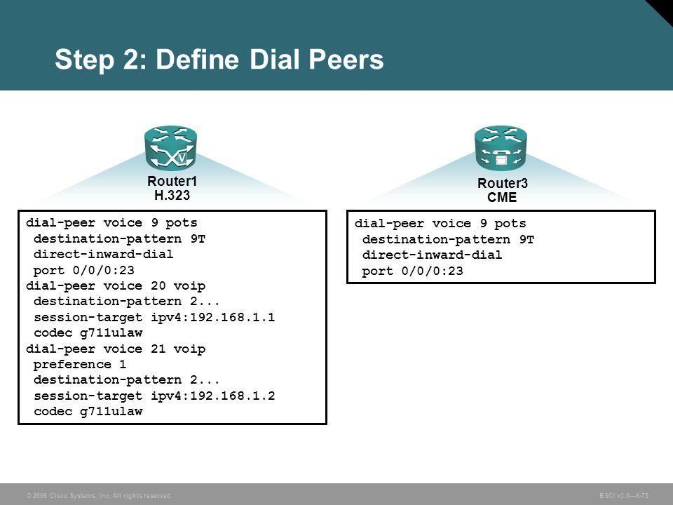 Step 2: Define Dial Peers