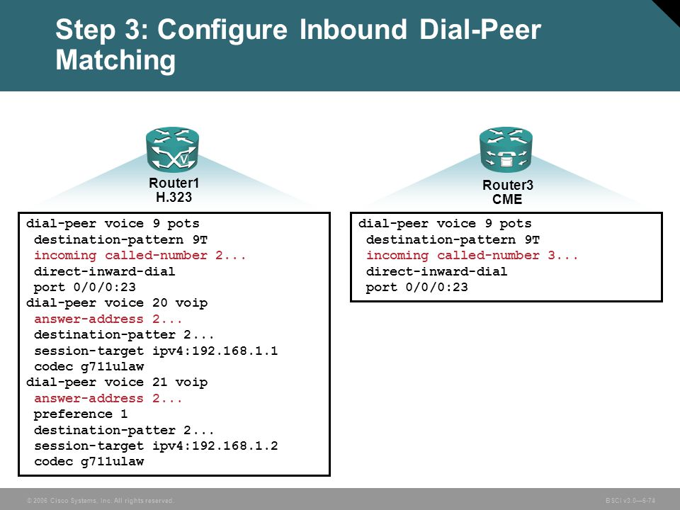 Step 3: Configure Inbound Dial-Peer Matching