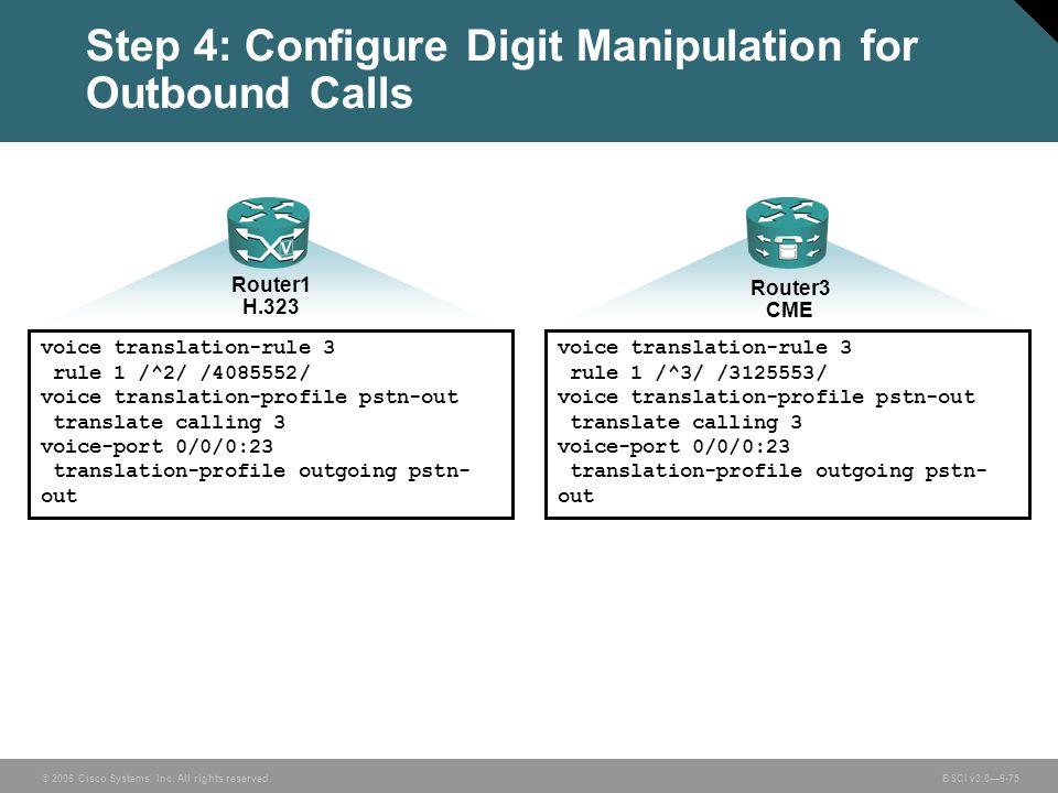 Step 4: Configure Digit Manipulation for Outbound Calls