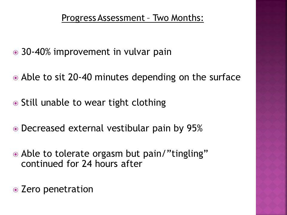 Progress Assessment – Two Months:
