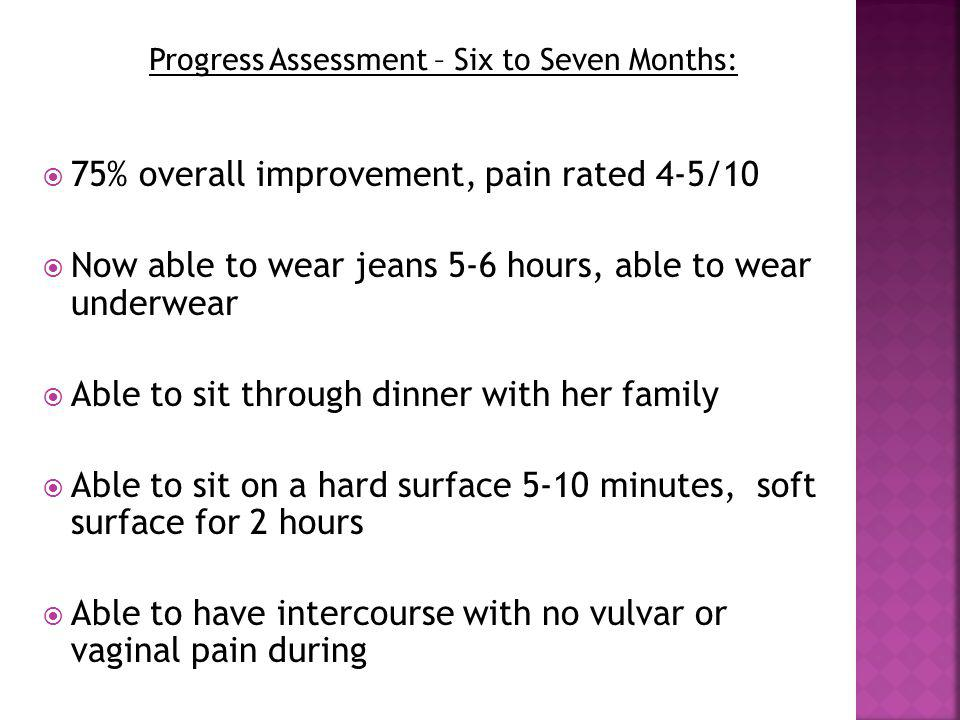 Progress Assessment – Six to Seven Months: