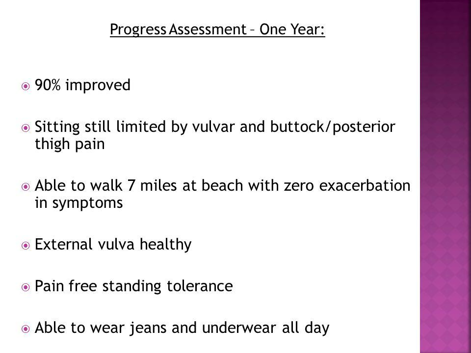 Progress Assessment – One Year:
