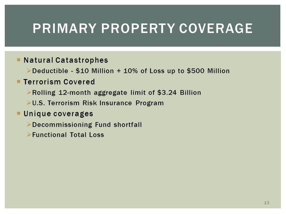 Primary Property COverage