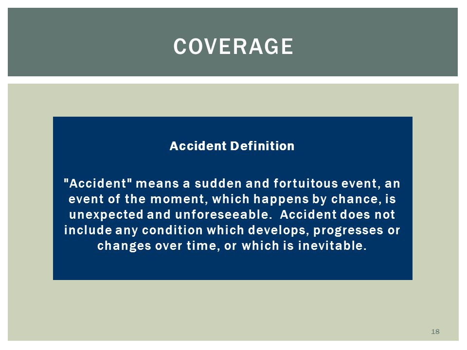Coverage Accident Definition