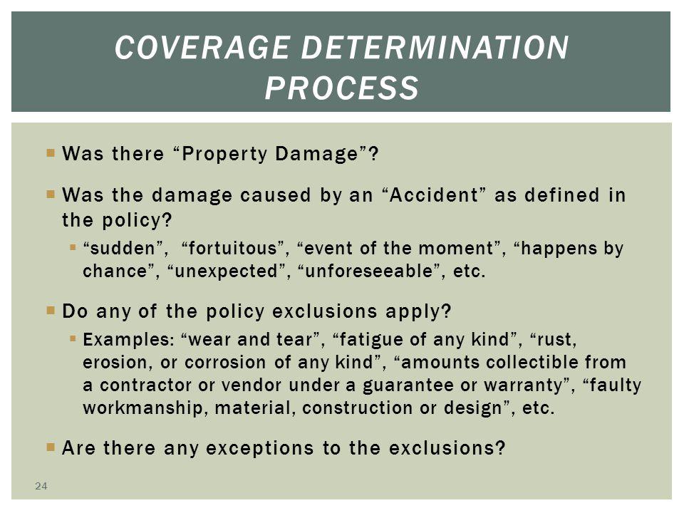 Coverage Determination Process
