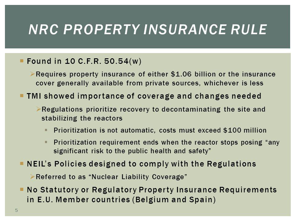NRC Property Insurance Rule