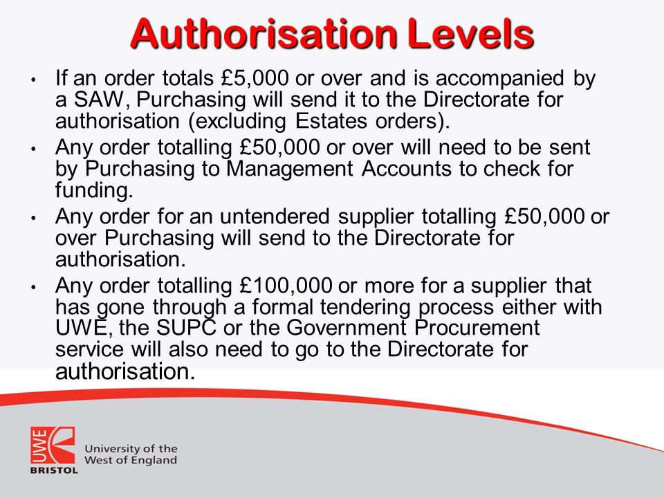 Authorisation Levels