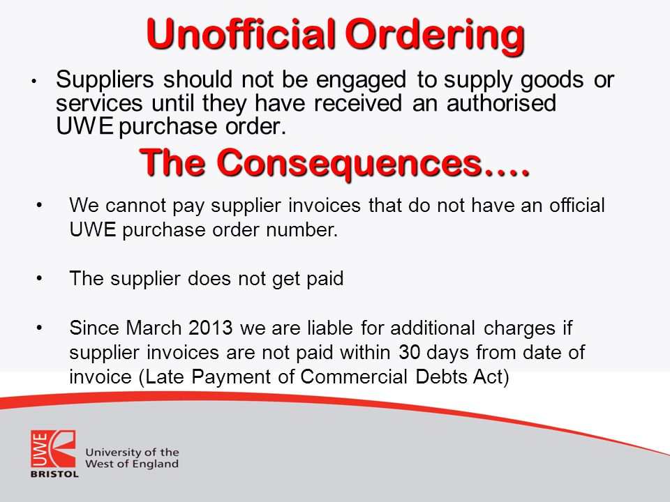 Unofficial Ordering The Consequences….