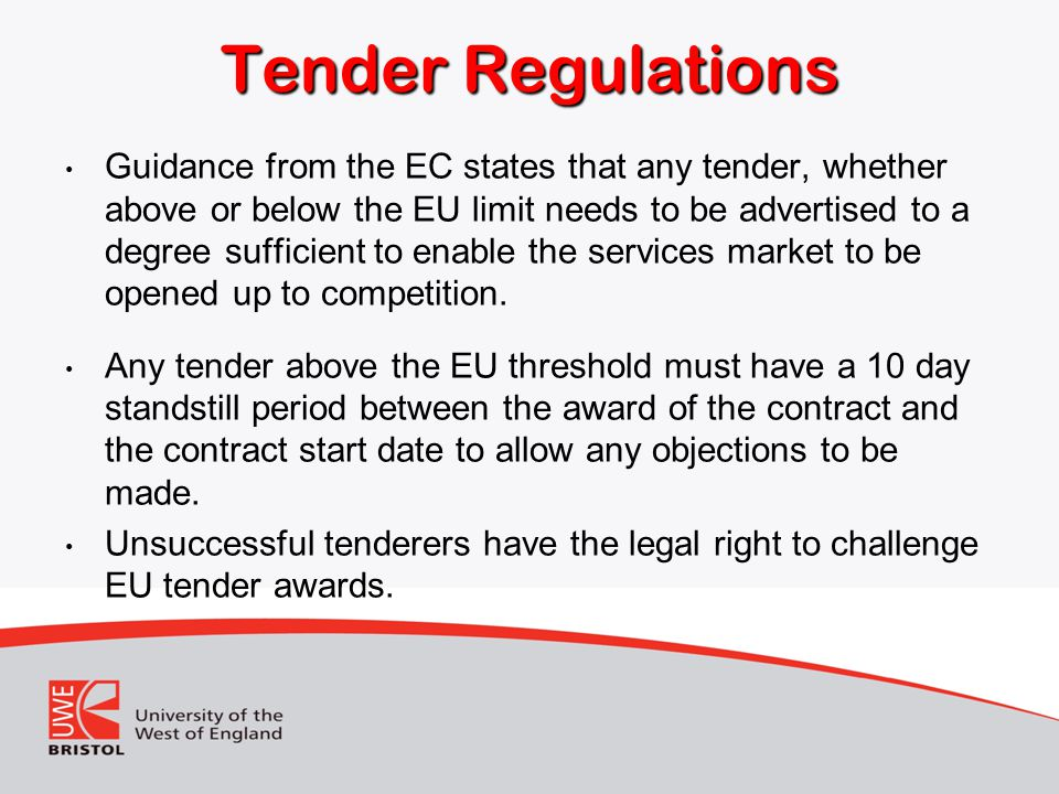 Tender Regulations