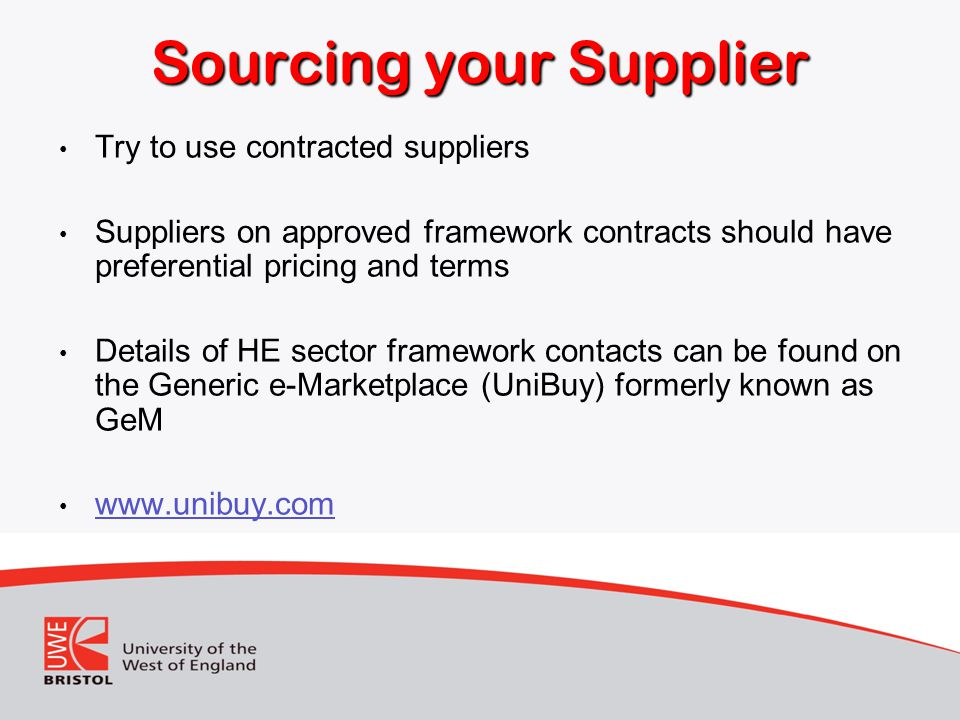 Sourcing your Supplier