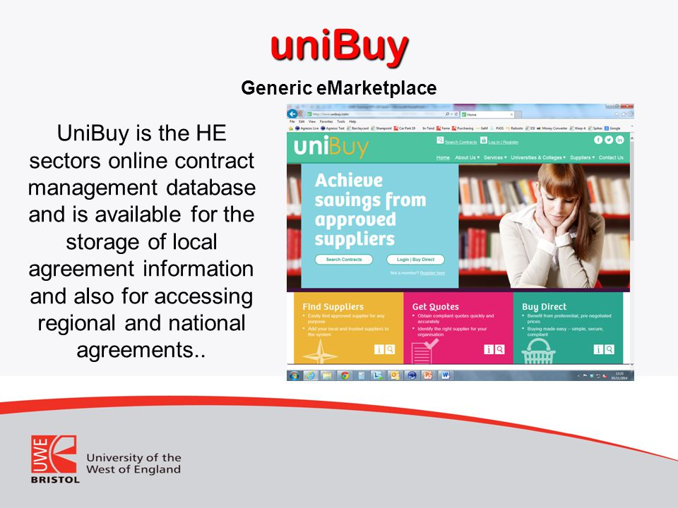 uniBuy Generic eMarketplace.
