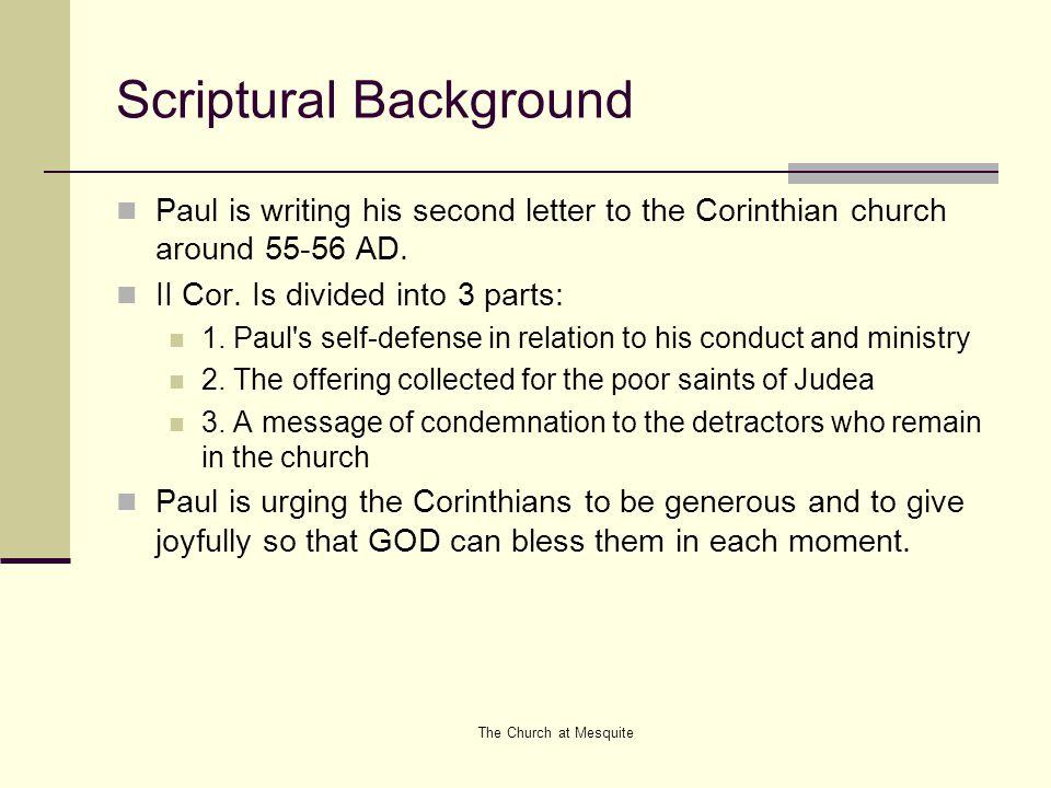 Scriptural Background