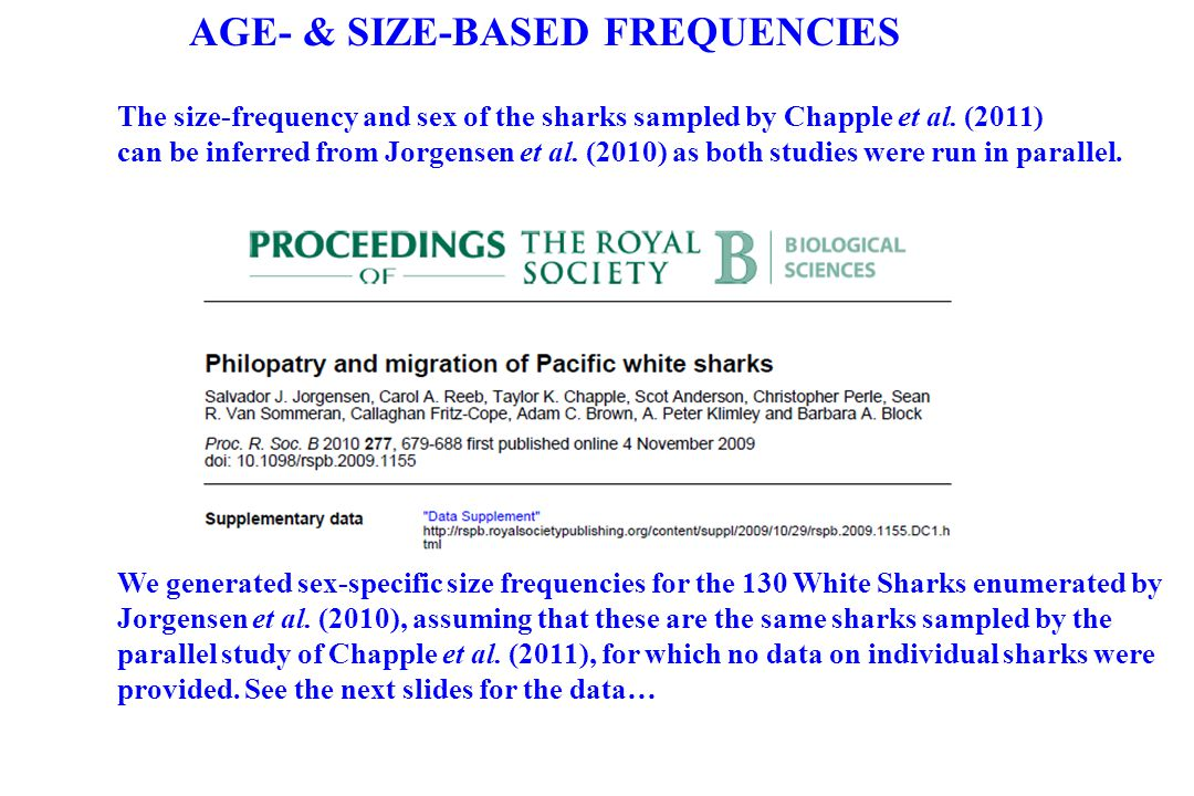 AGE- & SIZE-BASED FREQUENCIES
