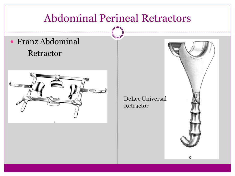Abdominal Perineal Retractors