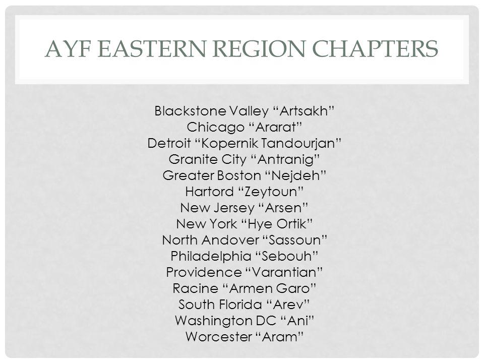 AYF Eastern region Chapters