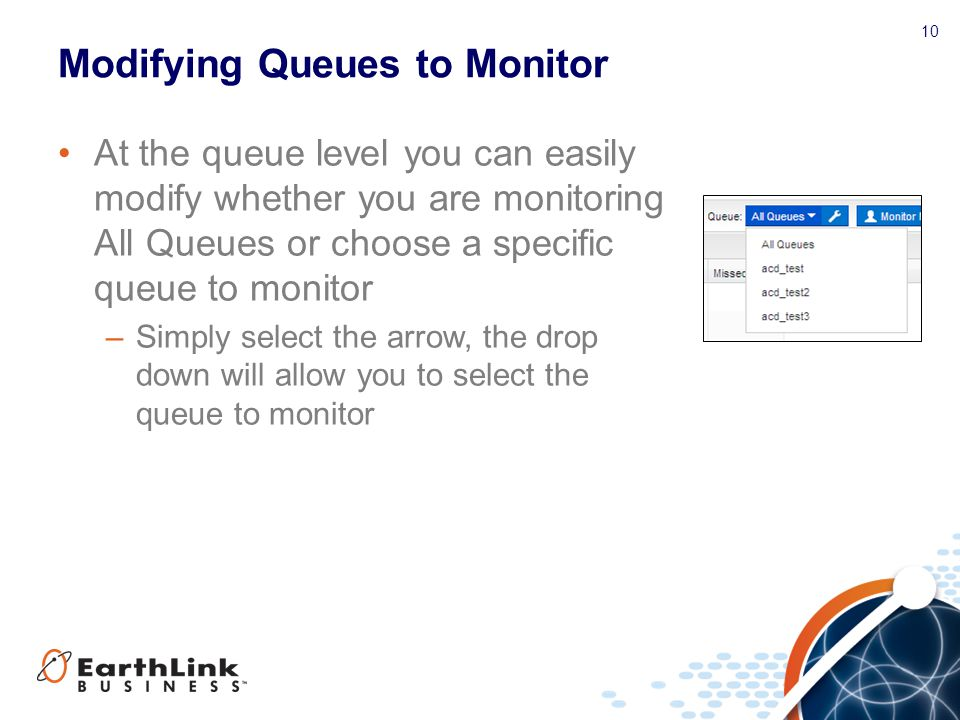 Modifying Queues to Monitor