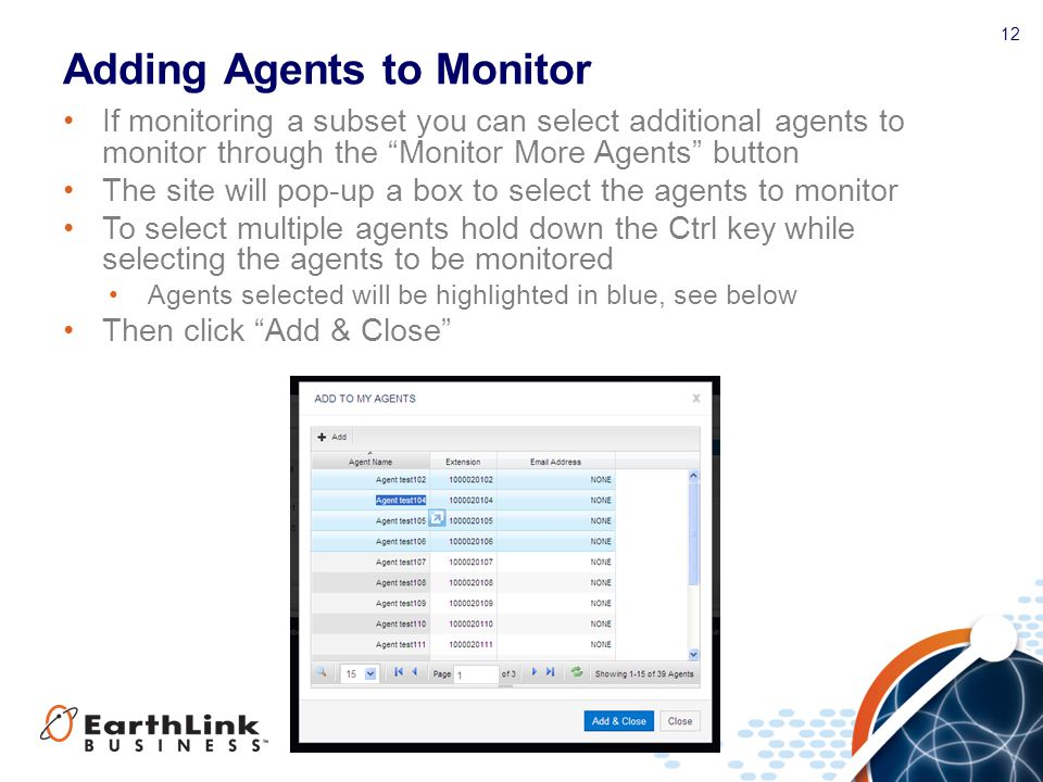 Adding Agents to Monitor