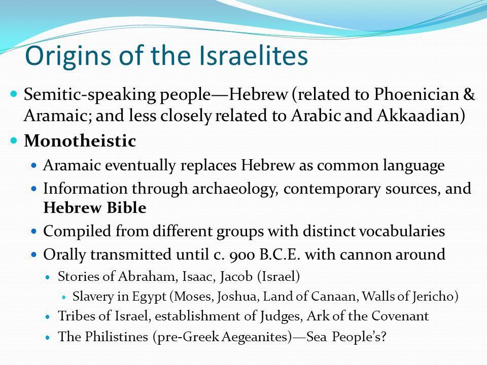Origins of the Israelites