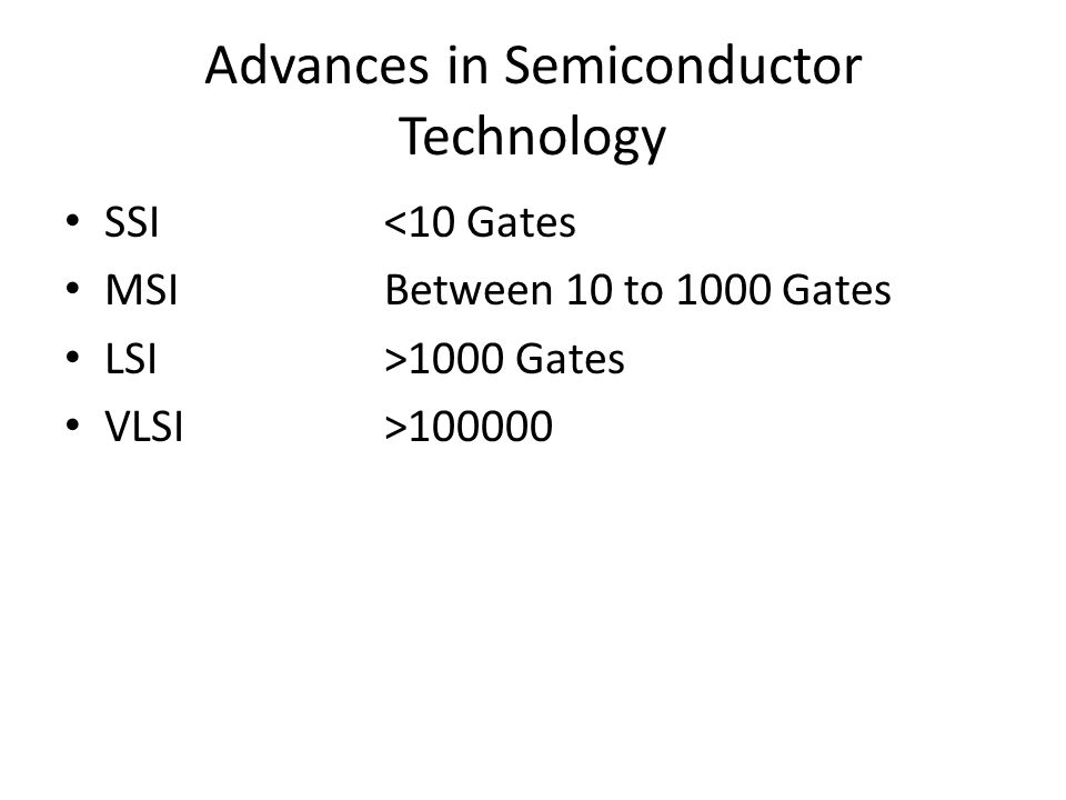 Advances in Semiconductor Technology