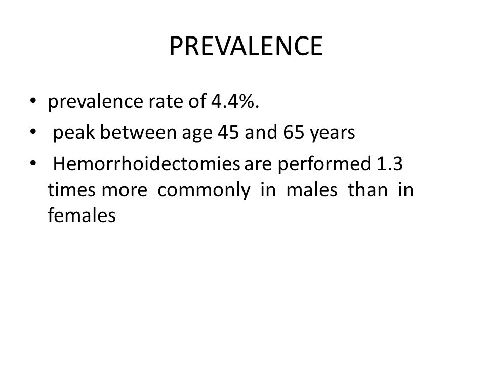 PREVALENCE prevalence rate of 4.4%. peak between age 45 and 65 years