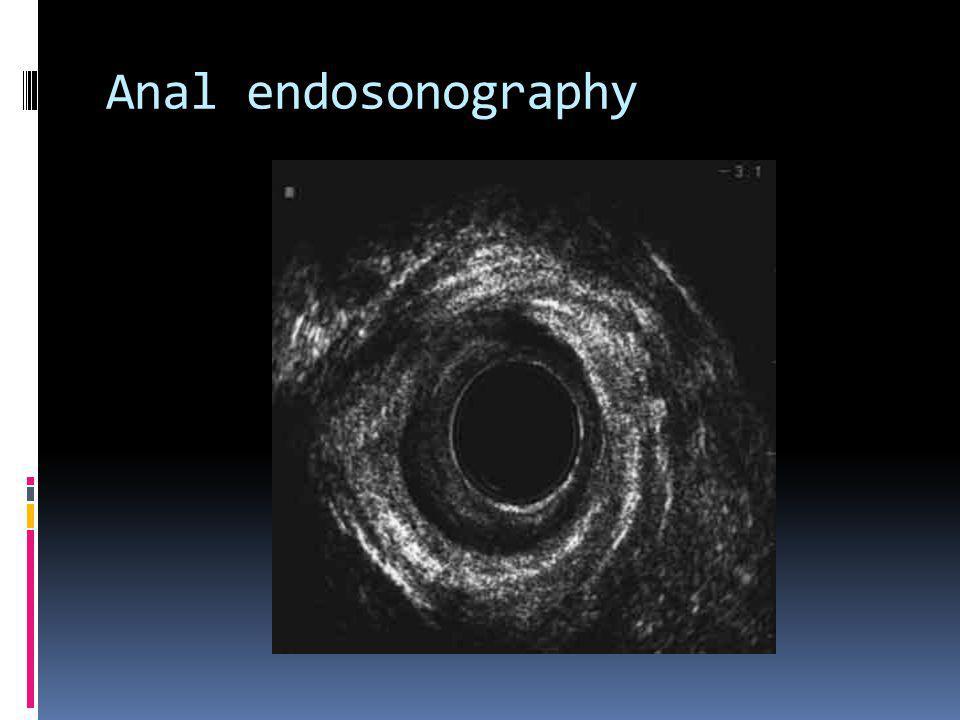 Anal endosonography