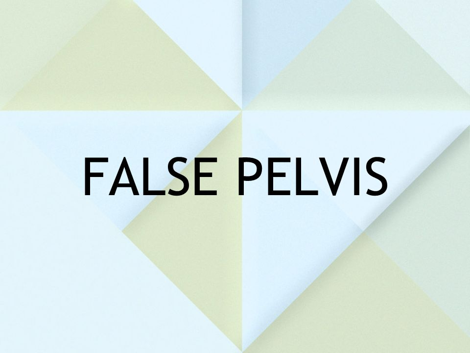 FALSE PELVIS