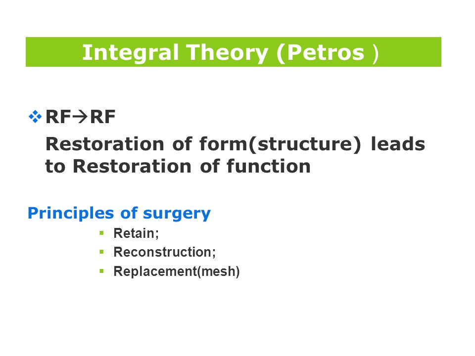 Integral Theory (Petros)