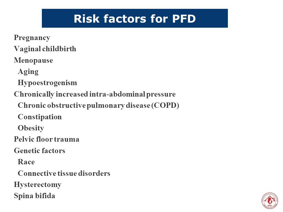 Risk factors for PFD