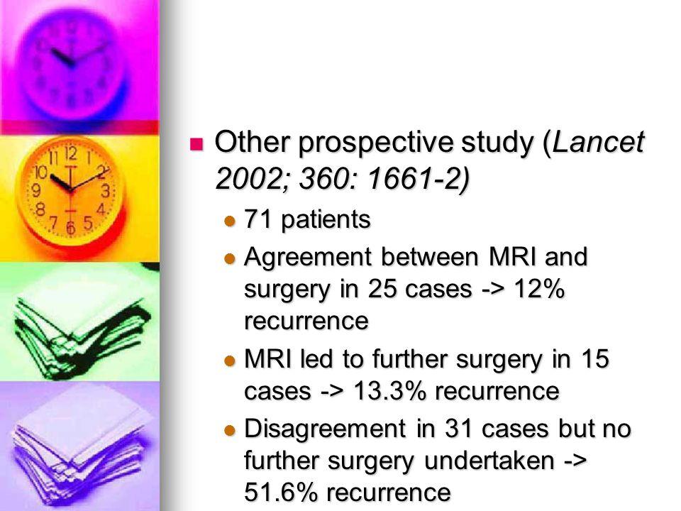 Other prospective study (Lancet 2002; 360: 1661-2)