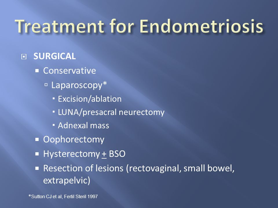 Treatment for Endometriosis