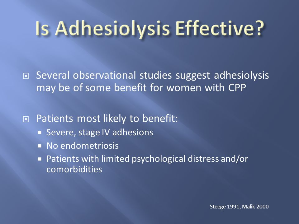 Is Adhesiolysis Effective