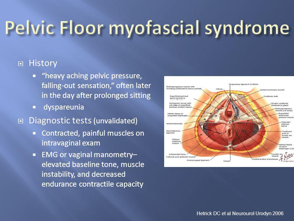 Pelvic Floor myofascial syndrome
