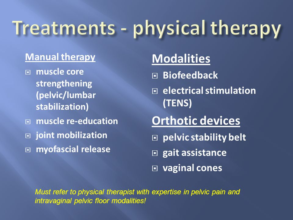 Treatments - physical therapy