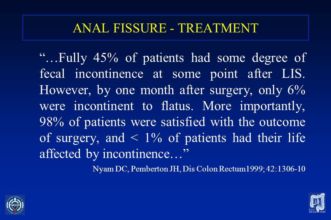 ANAL FISSURE - TREATMENT