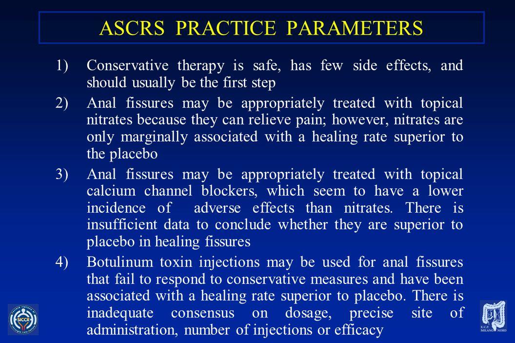 ASCRS PRACTICE PARAMETERS