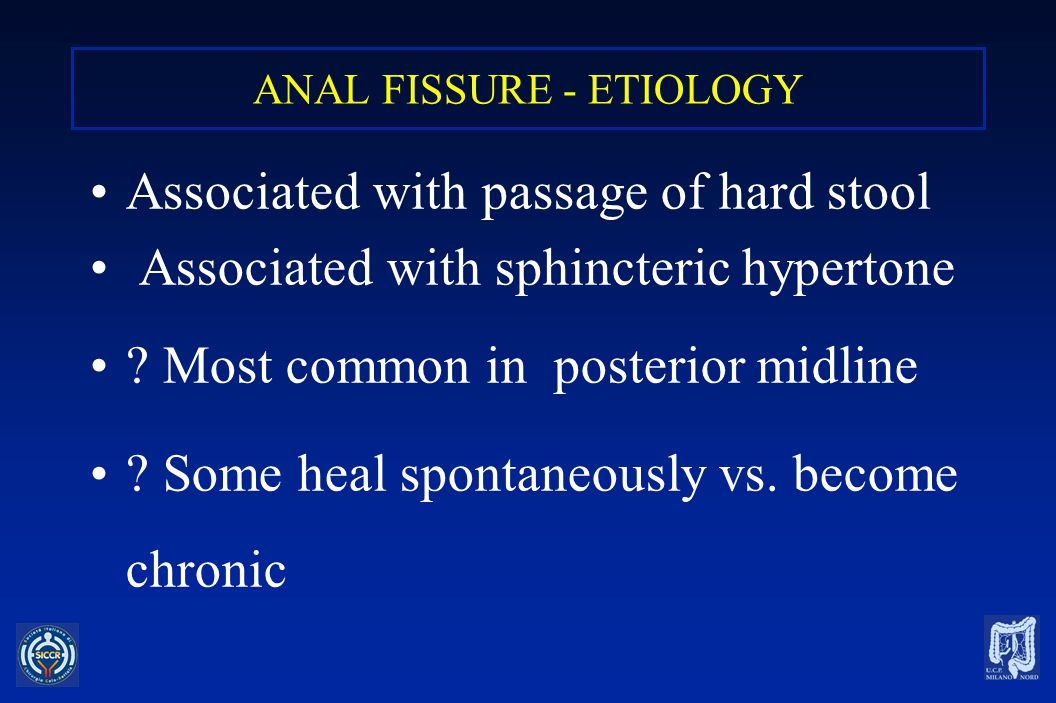 ANAL FISSURE - ETIOLOGY